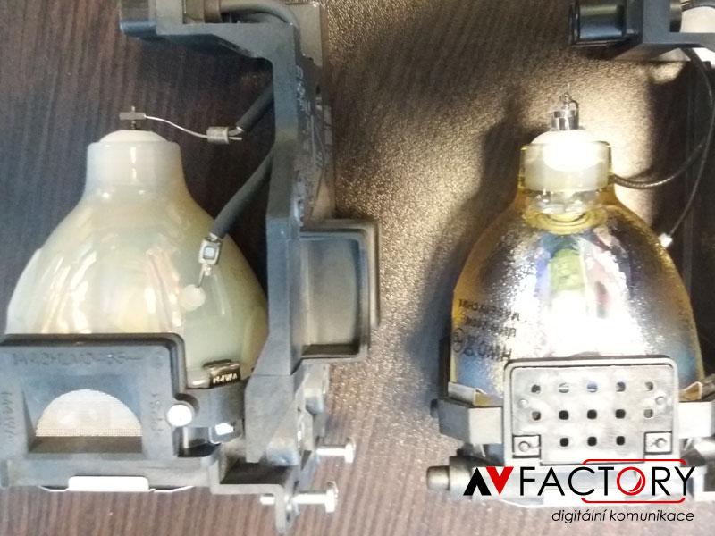 Konkurenční firmou oklamaný zákazník, kde v domnění, že zakoupil originál lampu mu byla prodána lampa neoriginální